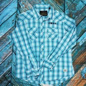 Red Snap Jeans Co. Button Up Shirt